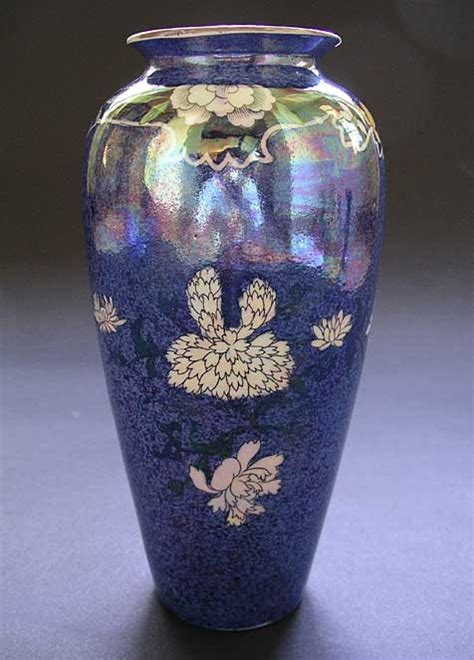 Wilkinson Vases by Wilkinson Ltd Kioto Pattern Shape 120 Deco Lustre