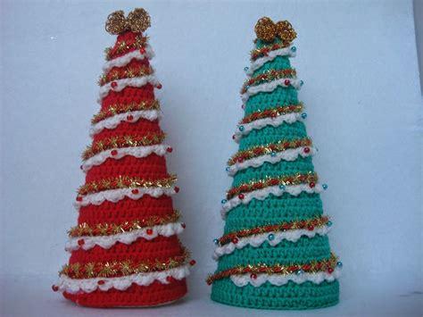 tutorial en crochet de un arbol de navidad adornos en