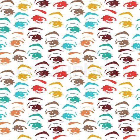 video eye pattern seamless background with eyes endless eye pattern stock