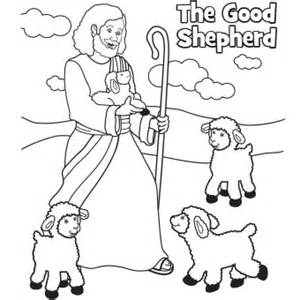 coloring page jesus the good shepherd images