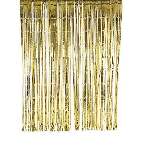 metallic gold fringe curtain sunbeauty 1 set of metallic tinsel foil fringe curtains