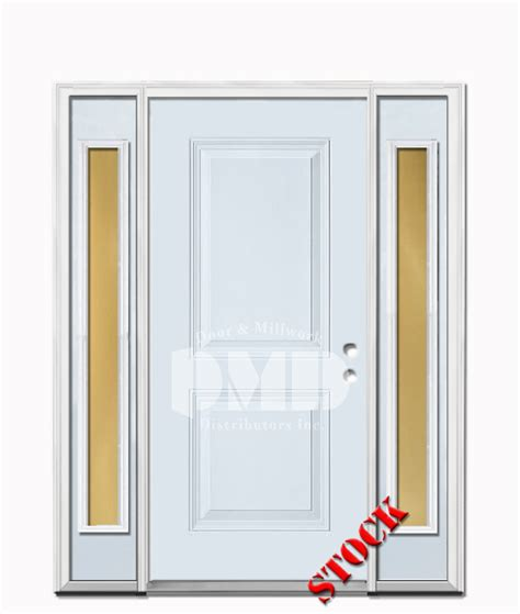 Exterior Door Ratings 2 Panel Square Steel Exterior Door With Sidelites 6 8 Door And Millwork Distributors Inc