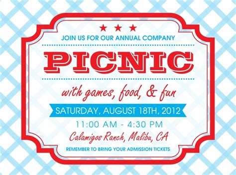 picnic invitation template company picnic invitations the curious mind of