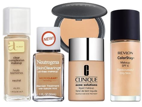 Foundation Acnes Coverage Makeup For Acne Layering Foundation