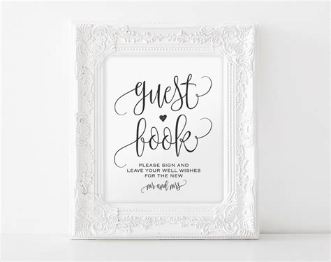 wedding guestbook template guest book sign sign our guest book guest book