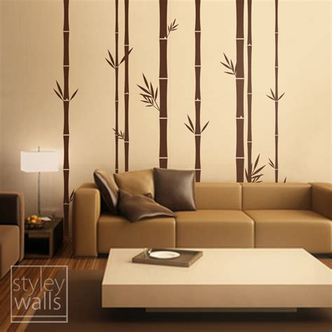 home design wall decor decorating ideas charming picture of bamboo sticks wall