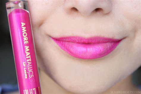 Milani Mattallics Lip Creme Dramatic milani mattallics lip cremes review slashed