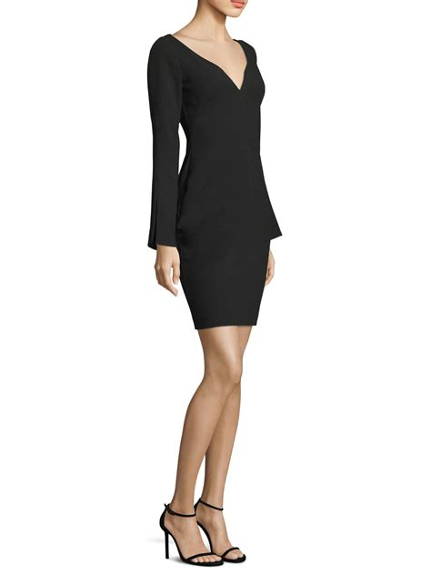 V Neck Bell Sleeve Sheath Dress lyst black halo maxwell v neck bell sleeve sheath dress