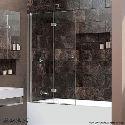 folding bathtub doors aquafold hinged tub door