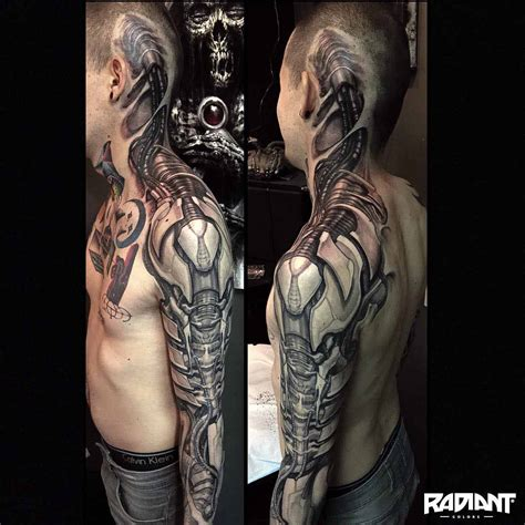 mechanical sleeve tattoo designs biomechanical best ideas gallery