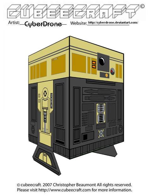 R3 Papercraft - cubeecraft r3 s6 goldie by cyberdrone on deviantart