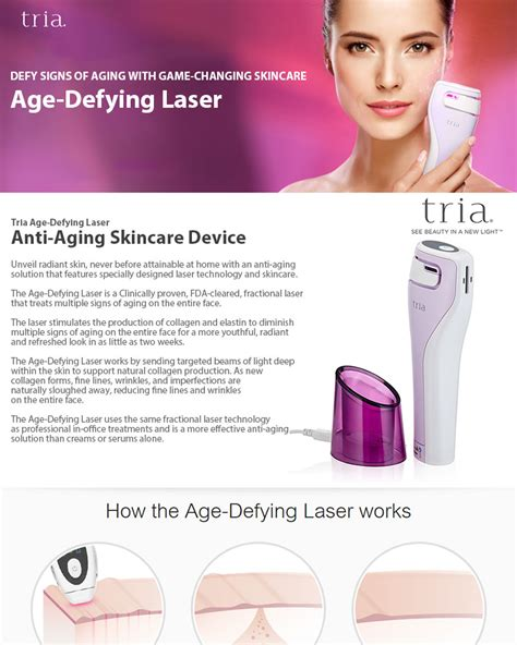 reviews tria anti aging laser genuine tria age defying device beauty skin face