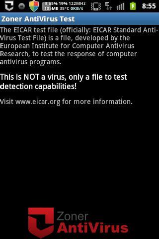 eicar test eicar anti virus test сайт мобильных развлечений