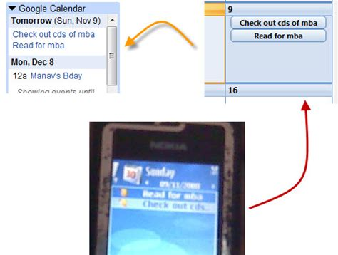 gmail calendar mobile how to sync nokia mobile outlook and calendars with
