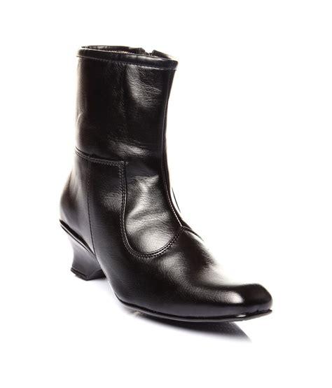 trilokani black wedges boots price in india buy