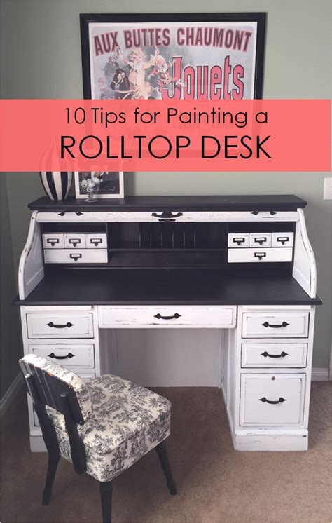 how to paint a desk 10 tips for painting a rolltop desk rockin the dots