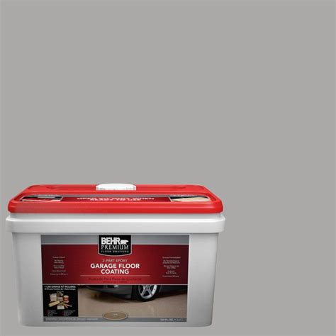 1 gal semi gloss 2 part epoxy garage floor coating kit behr premium 1 gal pfc 68 silver gray 2 part epoxy