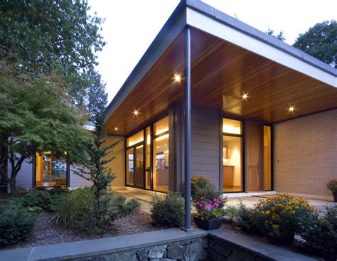 mid century modern exterior shiplap siding exterior contemporary with brick wall mid