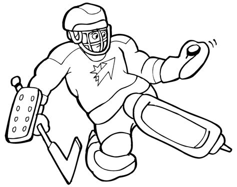 Hockey Coloring Pages To Print Coloring Home Free Hockey Coloring Pages