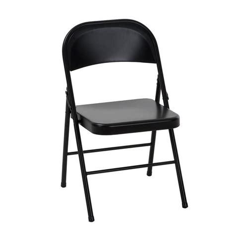cosco indoor  steel black standard folding chair  lowescom