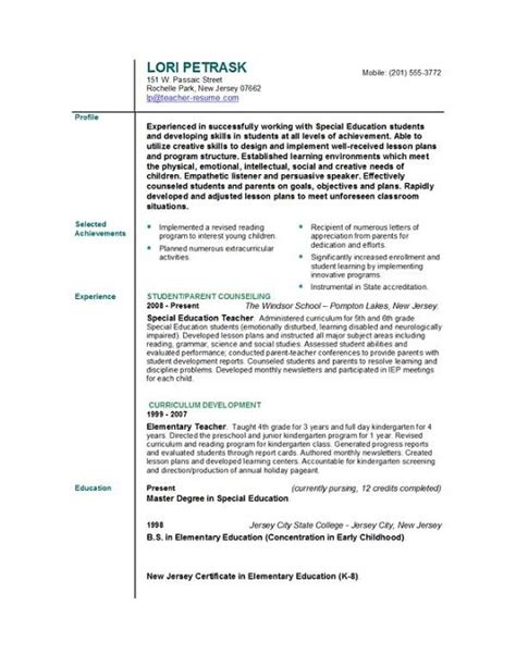 professional cv writing for teachers application letter