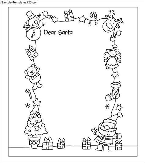 printable santa letter template sle templates