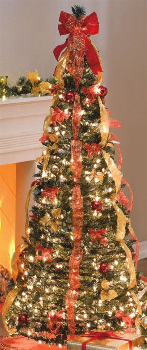 how much ribbon for a christmas tree 2013 prelit artificial trees on light decorati