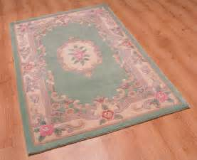 chinese wool aubusson rug light green in various sizes