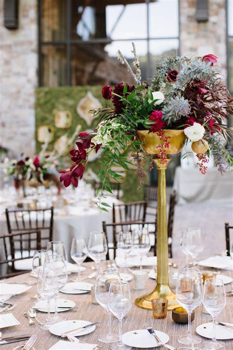 Burgundy And Gold Centerpiece Elizabeth Anne Designs Burgundy Wedding Centerpieces