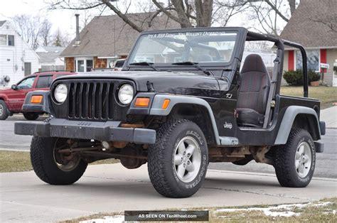 4 Cylinder Jeep 1999 Jeep Wrangler Tj Se 4 Cylinder Project Rebuildable