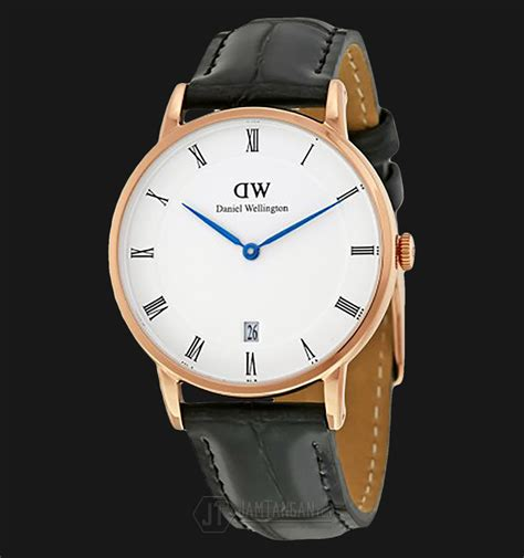 New Edition Jam Tangan Jonas Rantai Diskon daniel wellington dapper reading 34mm rosegold black leather dw00100118 jamtangan