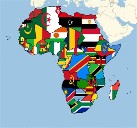 africa map flags map the countries of africa with their flags new in