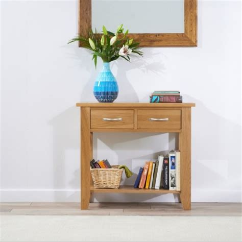 Small Home Furniture Catalog Sandringham Wooden Console Table Small In Oak With 2