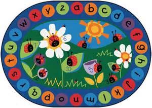 ladybug alphabet numbers classroom circle time rug 8 3