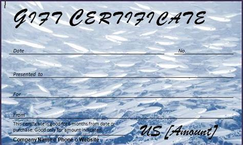 fishing gift certificate template 40 gift certificates templates for any occasion