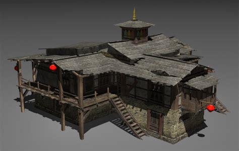 tibet house tibet house free 3d model 3ds max tga free3d