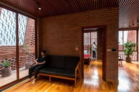 stunning brick cave house  vietnam  open