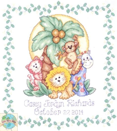 Times Record Birth Announcements Birth Announcements Cross Stitch Birth Announcements Templates