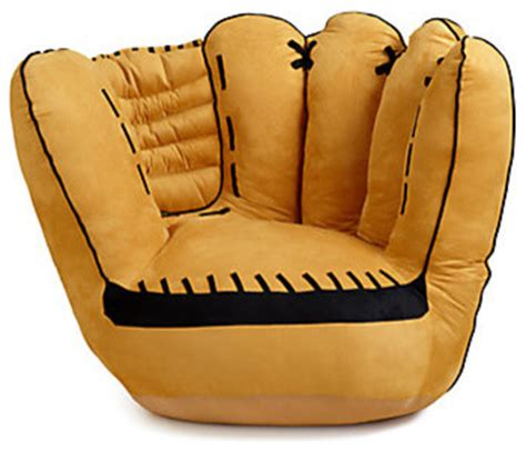 Baseball Mitt Chair by Baseball Glove Chair