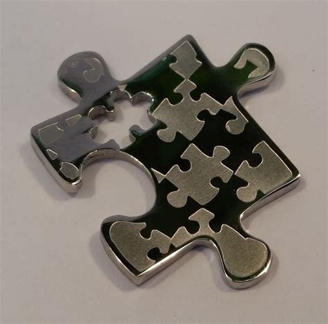 Steel 11mm Stainless Stell Jpn 100pcs puzzle stainless steel pendant 26 x 31 mm or 1 x 1 1