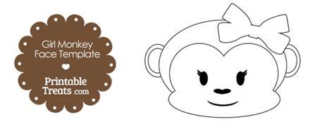 printable girl monkey face template printable treatscom