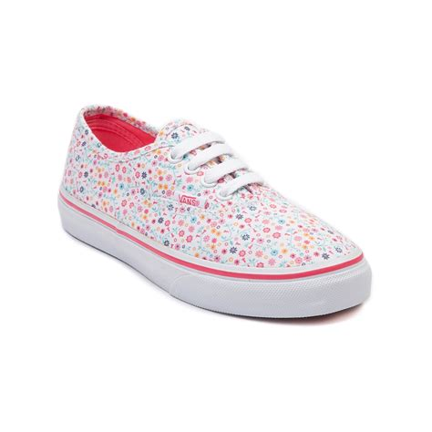vans flower shoes youth vans authentic floral skate shoe white journeys shoes