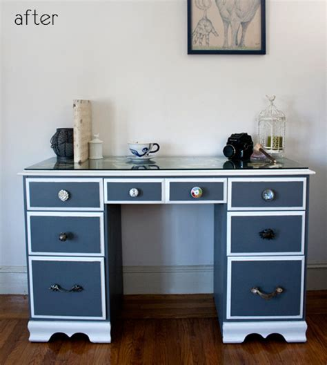 Desk Paint Ideas by Before After Dresser Redo Painted Desk Design