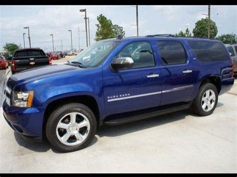 chevy suburban blue chevrolet suburban ltz ton 9 used blue 2012 chevrolet