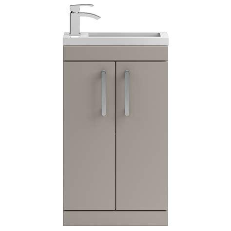 Grey Floor Standing L Vienna 500mm Floor Standing Vanity Unit Grey