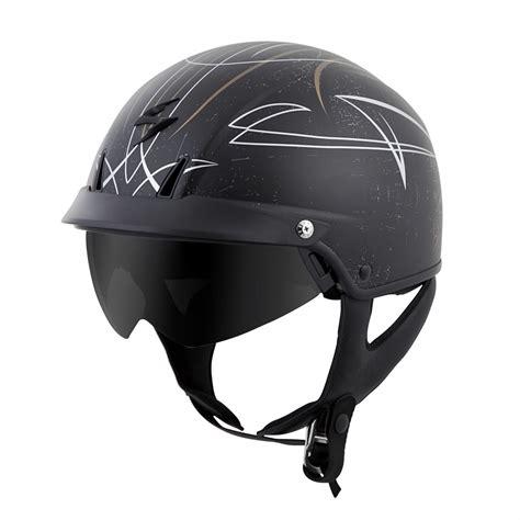 scorpion motocross helmets scorpion exo c110 pinstripe motorcycle half helmet gold