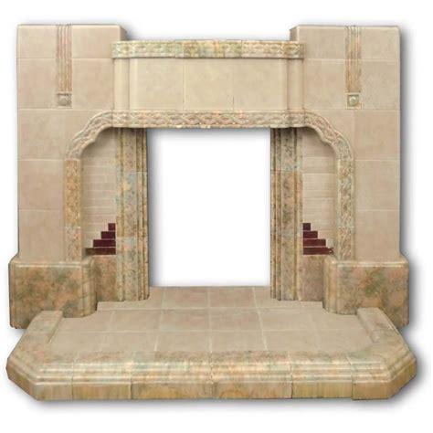 a 1950s tiled fireplace twentieth century fireplaces