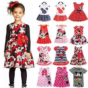 Dress Casual Mickey Mouse baby mickey minnie mouse dress casual vest skirt toddler clothes ebay