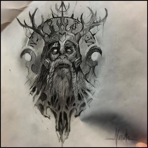 late night tattoo late sketchin some viking king