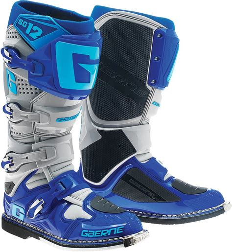 blue motorbike boots 629 95 gaerne mens sg 12 sg12 motocross boots 260187
